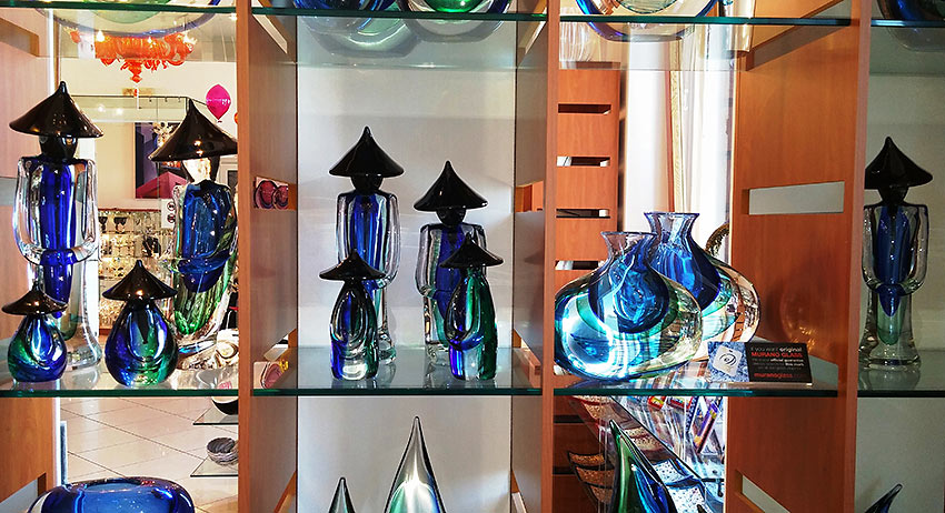 glass figurines at Murano