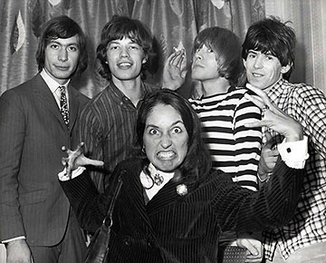 the Rolling Stones with Joan Baez