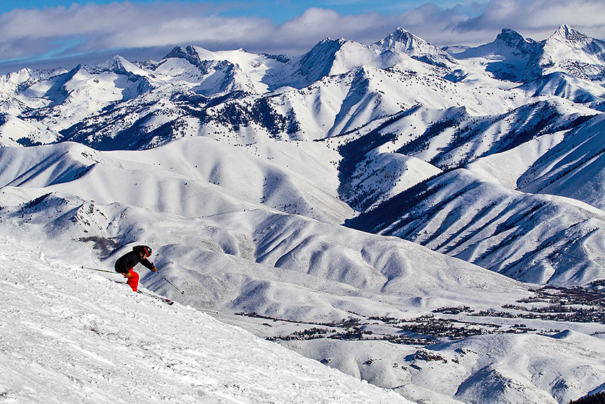Sun Valley powder skiing