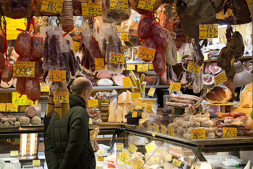 food stall in Bologna