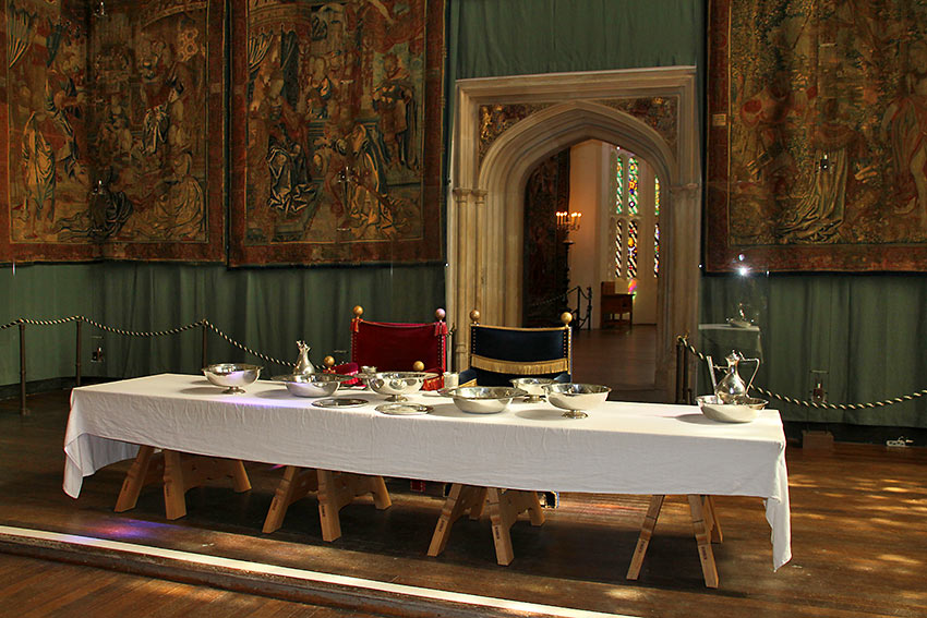 dining table at Hampton Court Palace