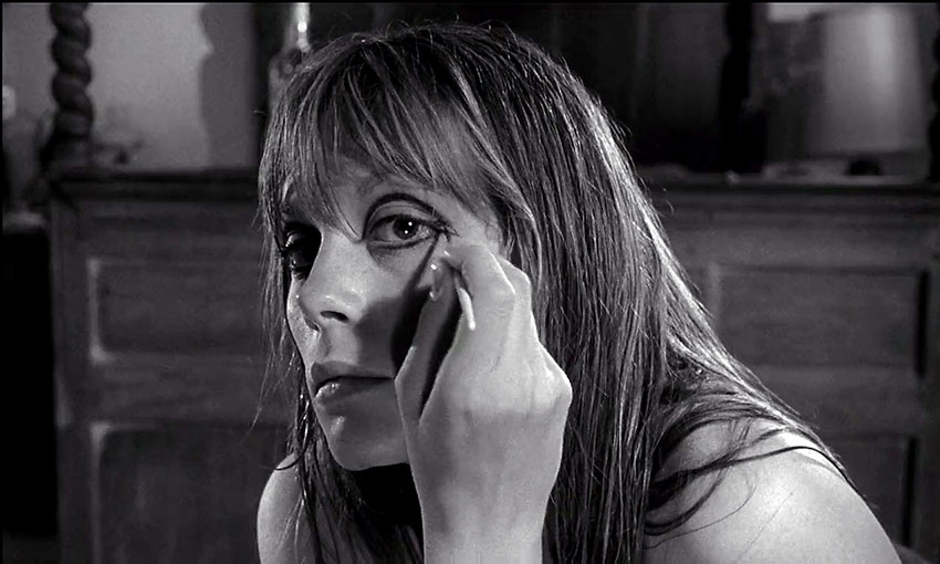 Francoise Dorleac in a scene from 'Cul-de-Sac'