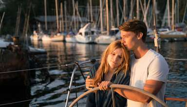 (Bella Thorne) is taken on her first ever sail with Charlie (Patrick Schwarzenegger)