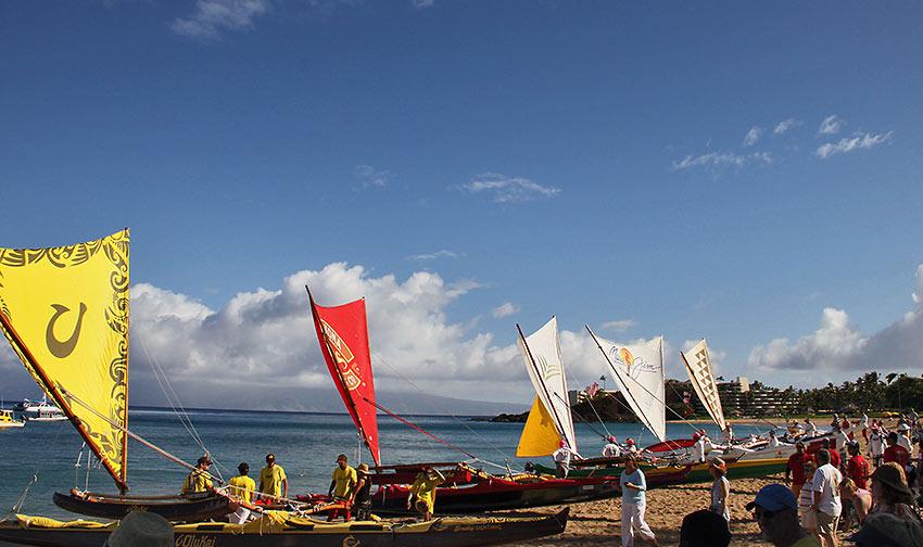 Wa'a Kiakahi Hawaiian Canoe Sailing Festival