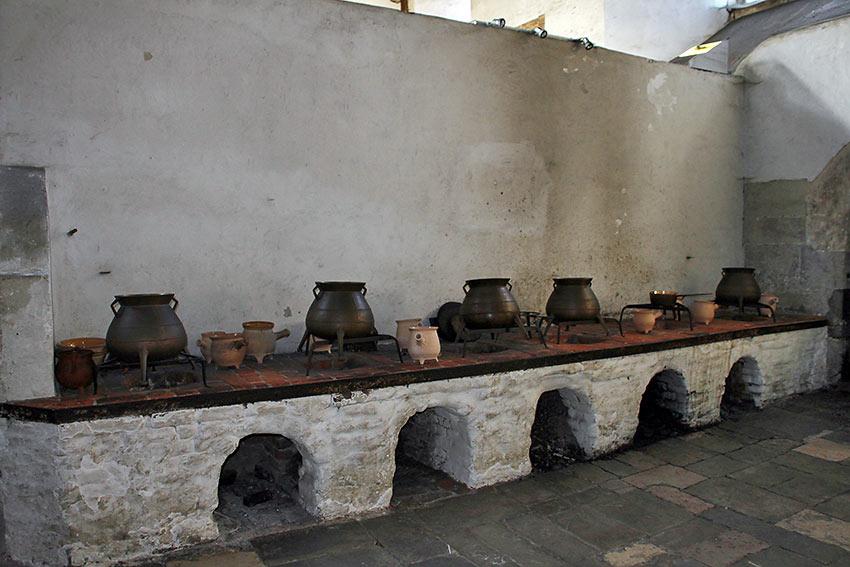 kitchen at Hampton Court Palace