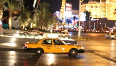 taxi at Las Vegas
