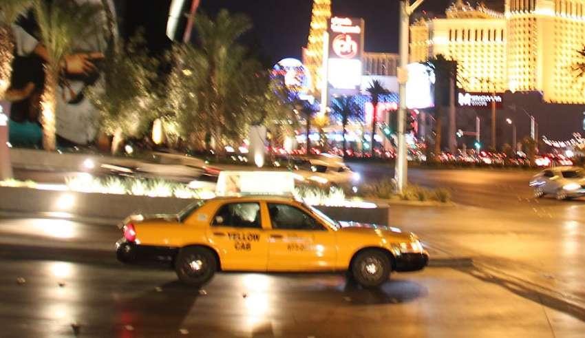 taxi at Las Vegas