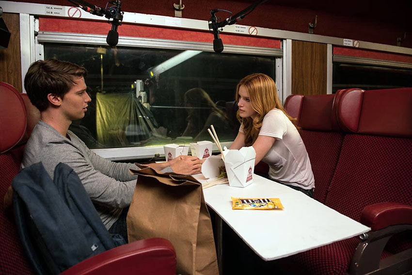 Patrick Schwarzenegger with Bella Thorne on a late-night date scene from 'Midnight Sun'