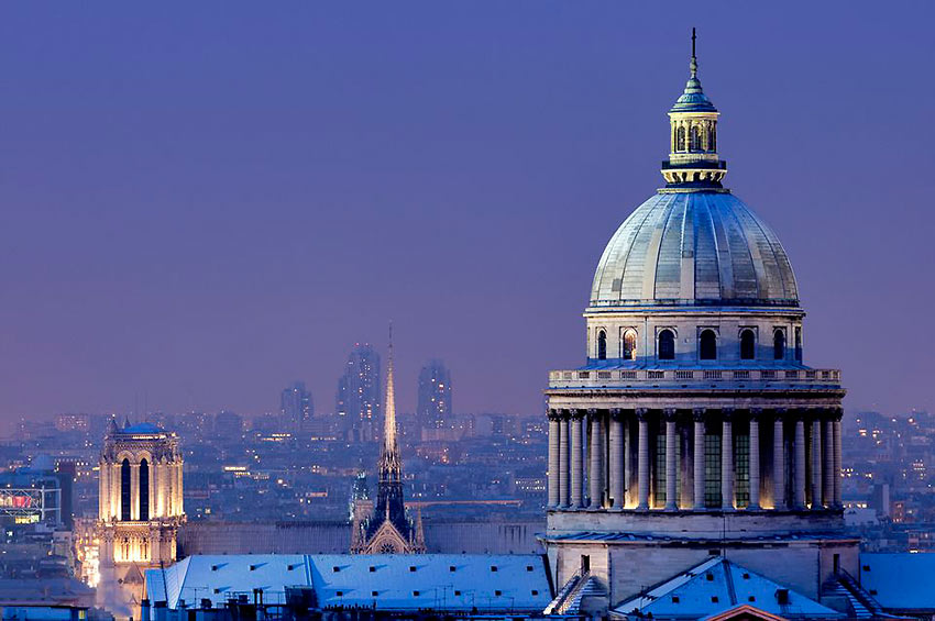 the Pantheon and its skyline, Paris