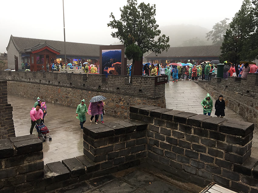 rain at the Great Wall of China