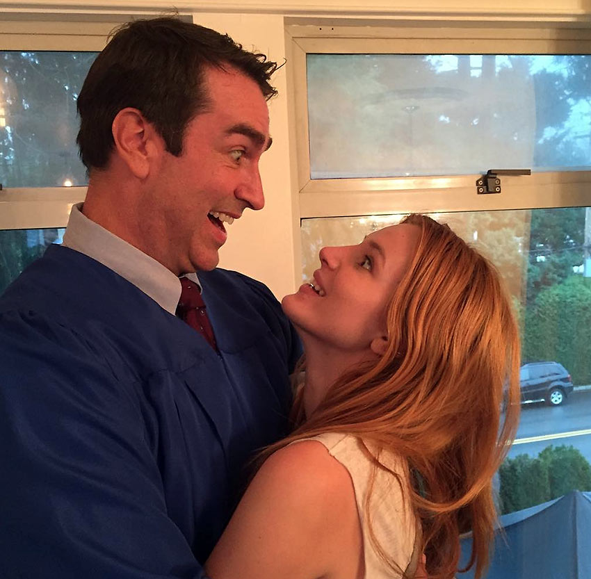 Rob Riggle and Bella Thorne in a scene from 'Midnight Sun'