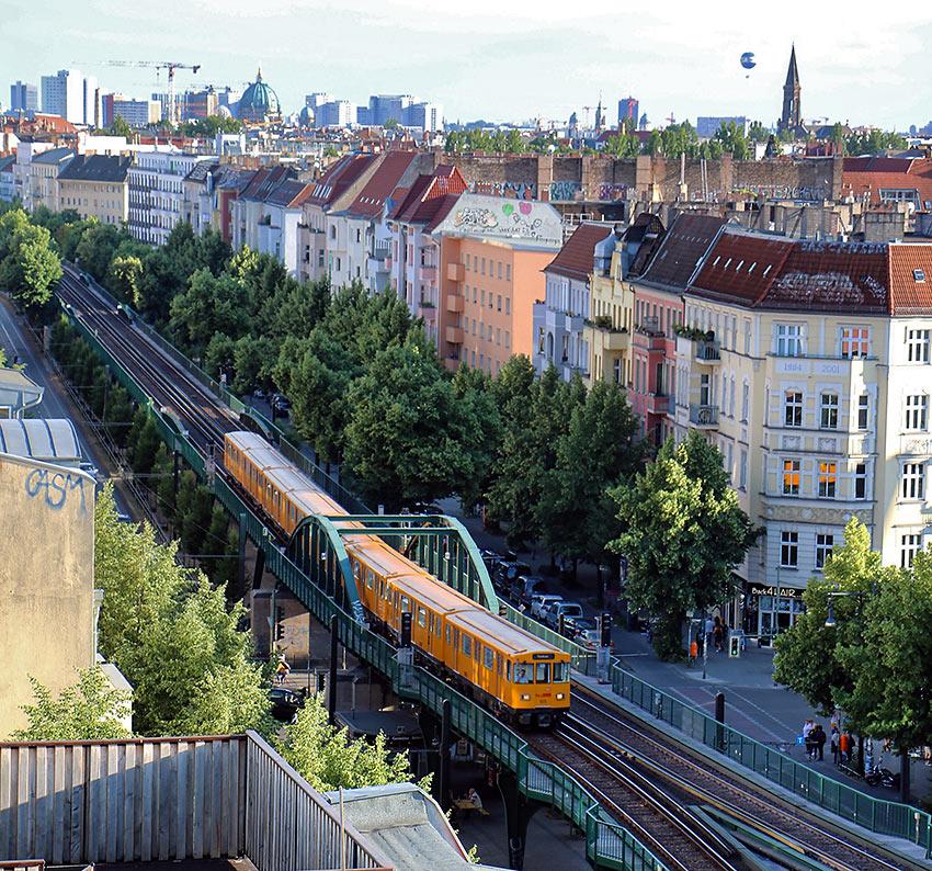 Schönhauser Allee in the Prenzlauer Berg district, Berlin