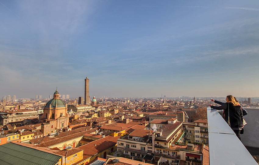 panoramic view of Bologna from the Terazza San Petronio