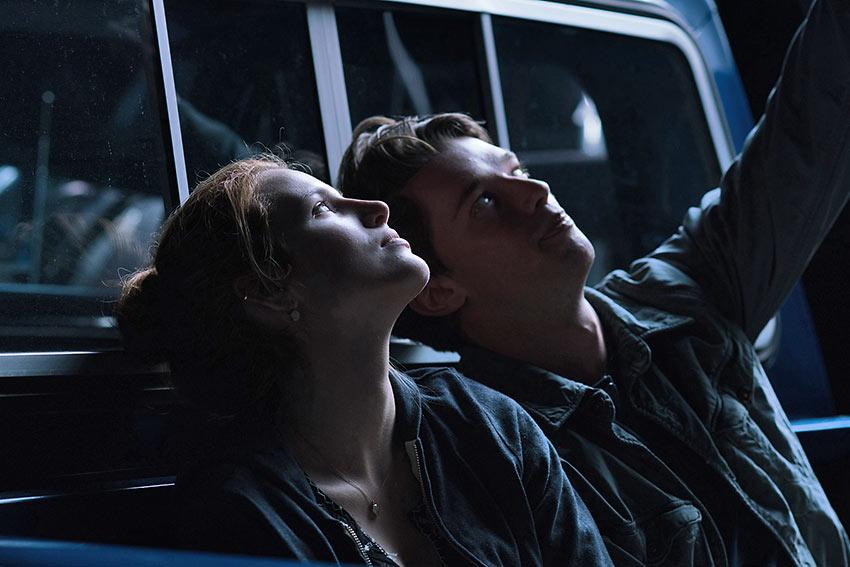 Bella Thorne (Katie) and Patrick Schwarzenegger (Charlie) in a scene from 'Midnight Sun'