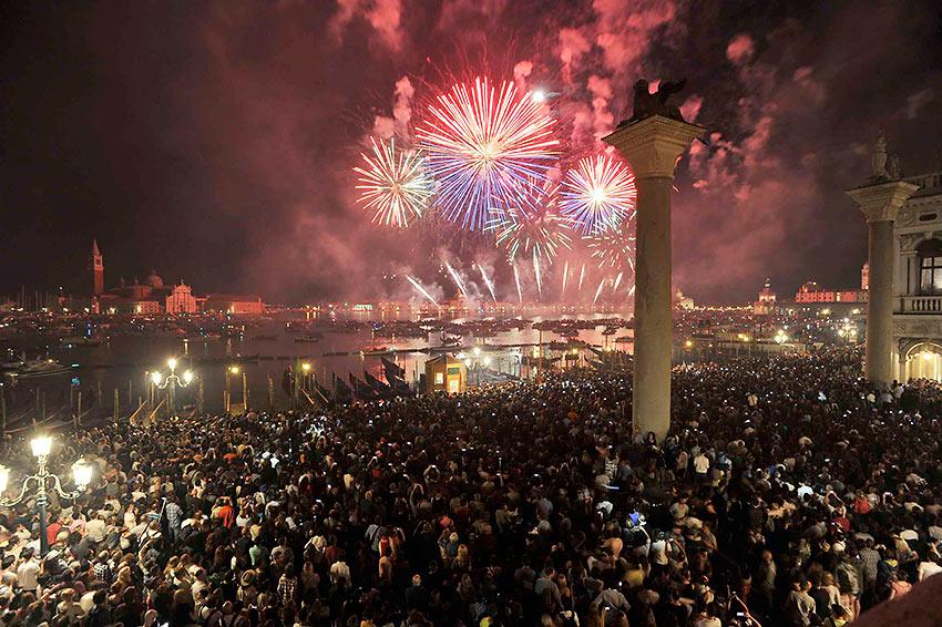 fireworks in Venice