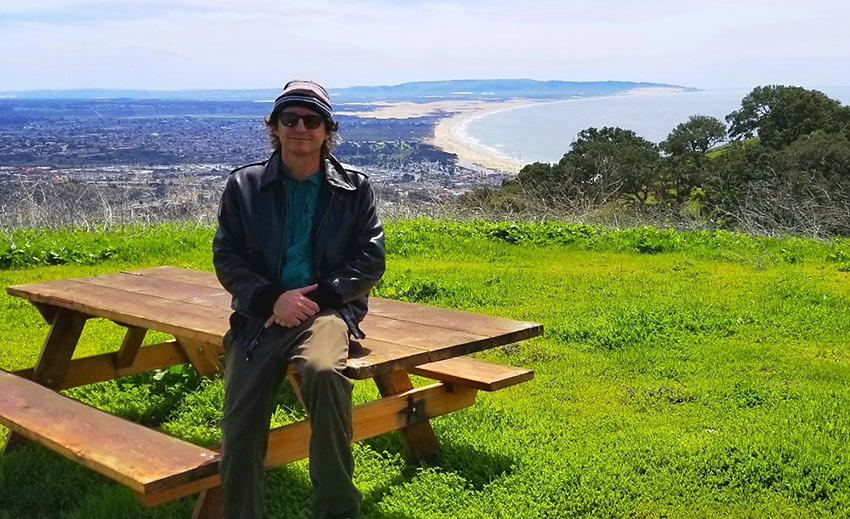 the writer at the Pismo Preserve