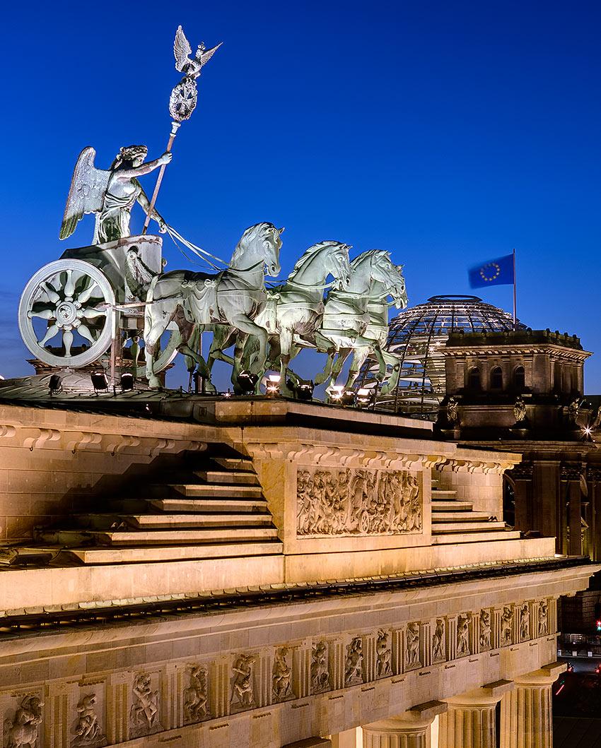 the Quadriga at the Brandenburg Gate, Berlin