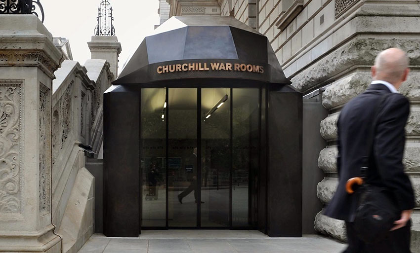 entrance of the Churchill Museum and Cabinet War Rooms