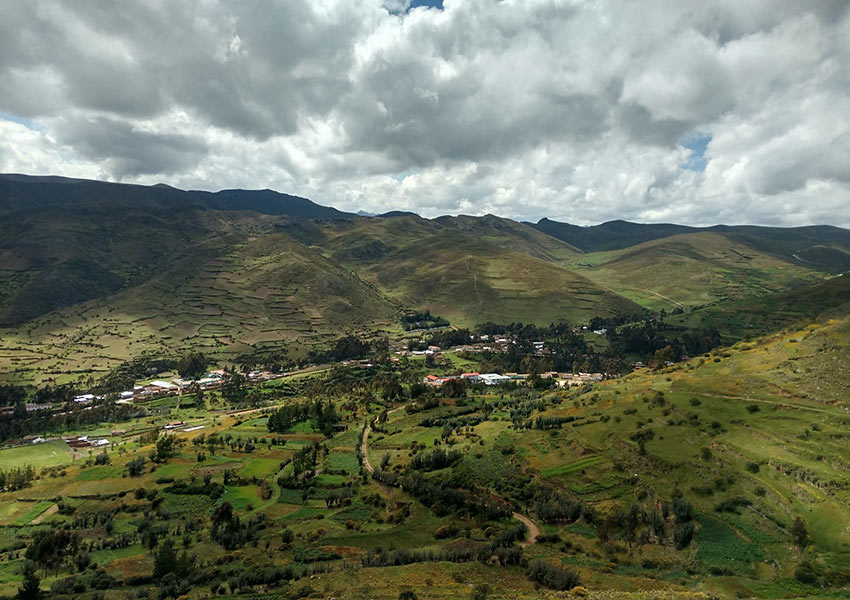 panoramic view of Huaricolca, Peru
