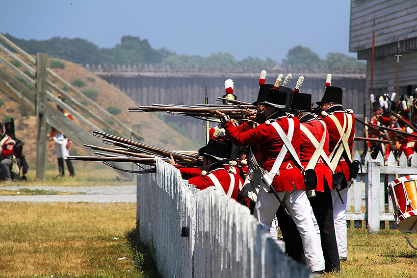 Battle of Fort George reenactment