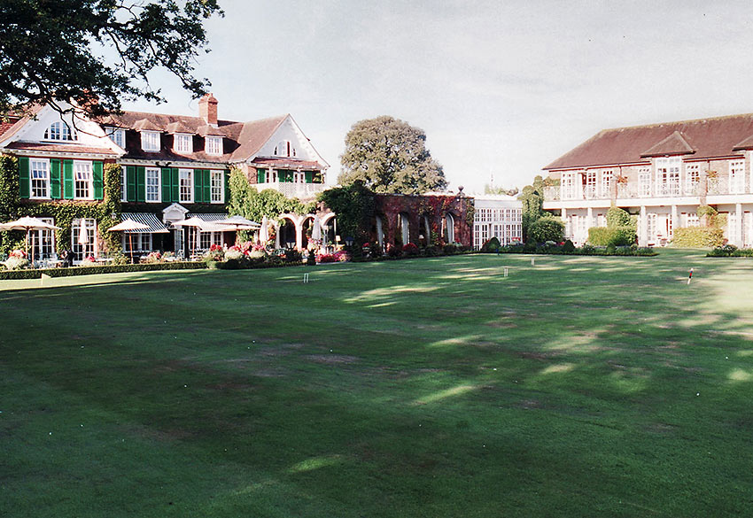 the garden lawn of Chewton Glen