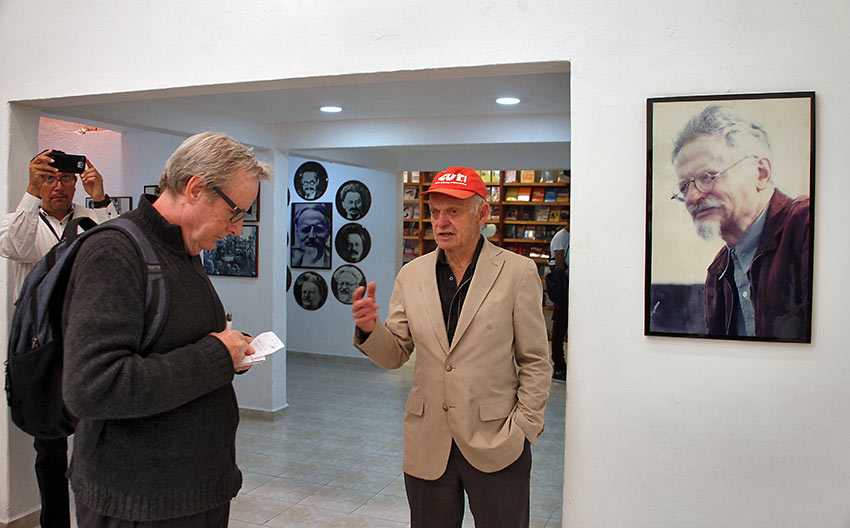 Leon Trotsky's grandson, Esteban Volkov, conducts a private tour.