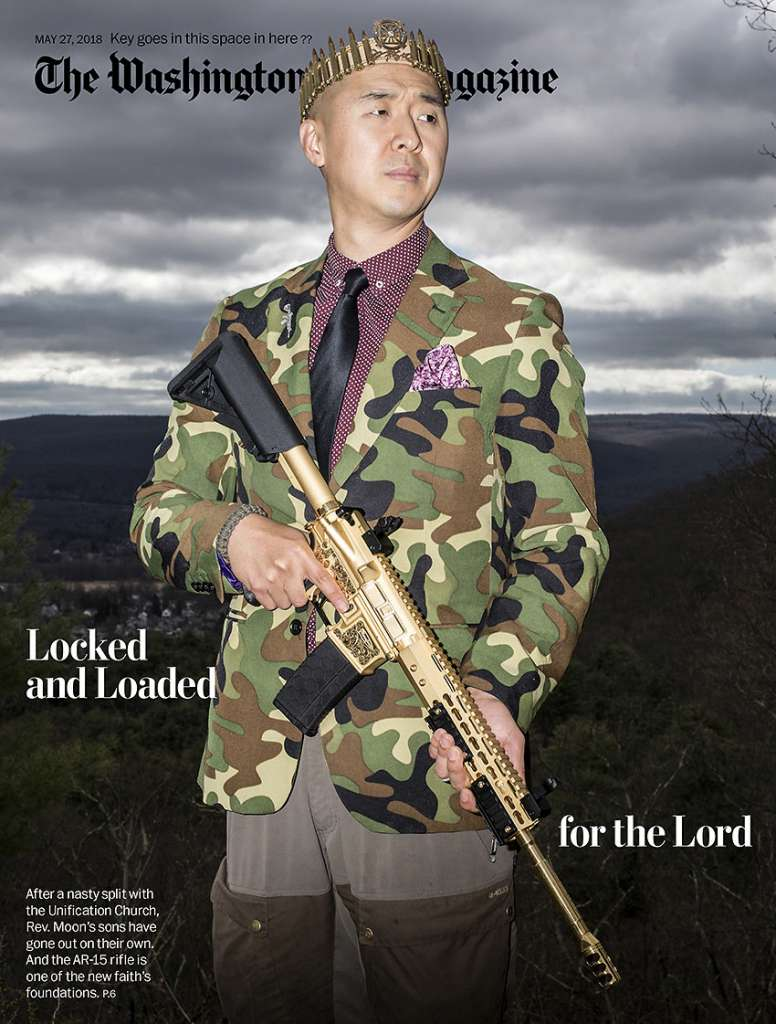 "Hyung Jin ""Sean"" Moon, leader of Sanctuary Church, on the cover of the May 27 issue of the Washington Post Magazine"