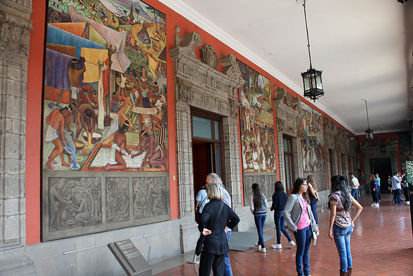 mural by Diego Rivera at the National Palace