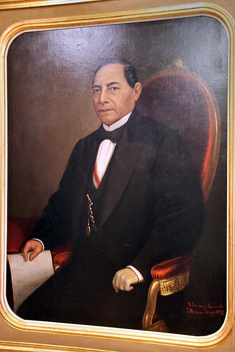 painting of President Benito Juarez