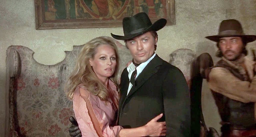 Ursula Andress and Alain Delon in Red Sun