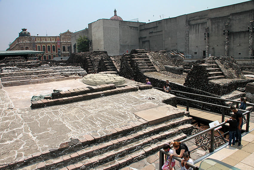 another view of the Templo Mayor Ruins
