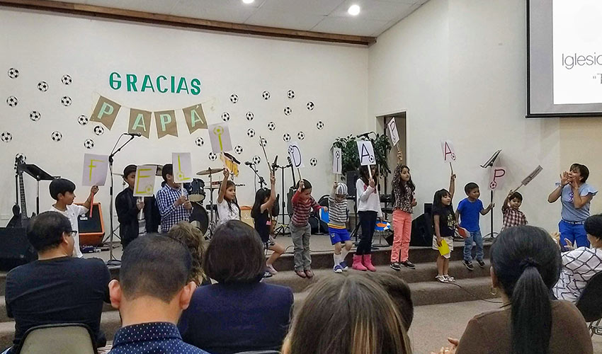 celebrating Father's Day in a Christian school in Ecuador
