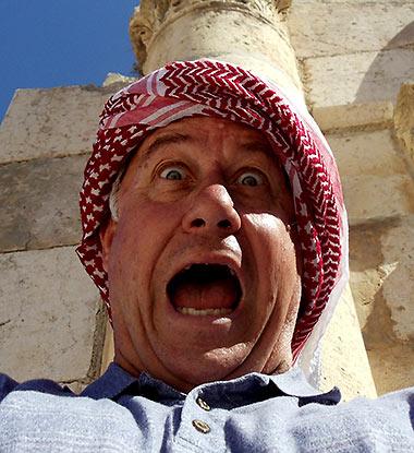 Ed Landry in Jordan