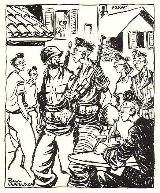 Bill Mouldin cartoon: French town