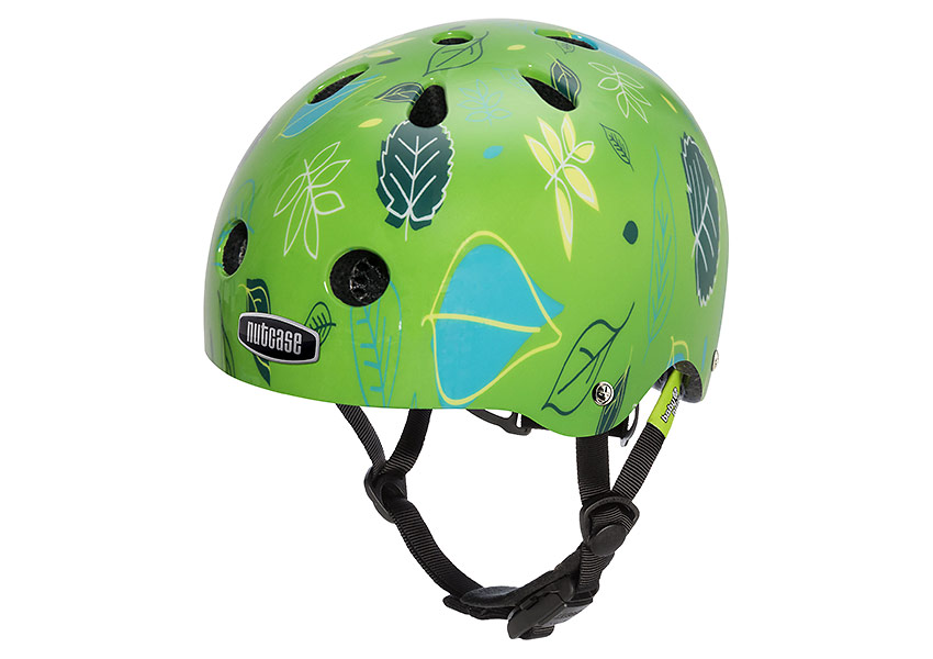 Little Nutty multi-sport street-styled helmet with no-pinch magnetic buckle