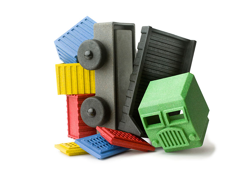 Luke's Toy Factory Cargo Truck, a nine- part eco-friendly three-dimensional puzzle