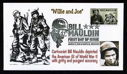 first class postage stamp featuring Bill Mauldin