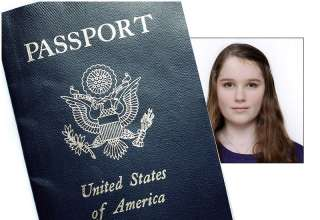 taking a passport photo