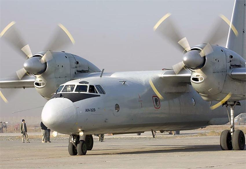 Russian AN32 transport plane
