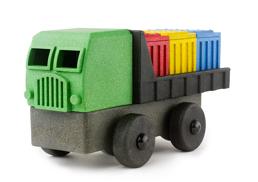Luke's Toy Factory Cargo Truck, a nine-part eco-friendly three-dimensional puzzle