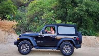 the writer in a 2018 Jeep Wrangler