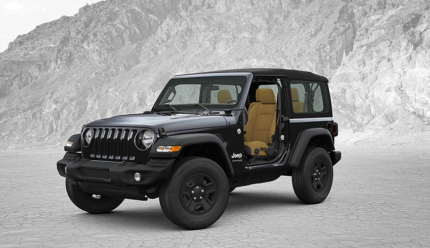 2018 Jeep Wrangler with convertible doors and top