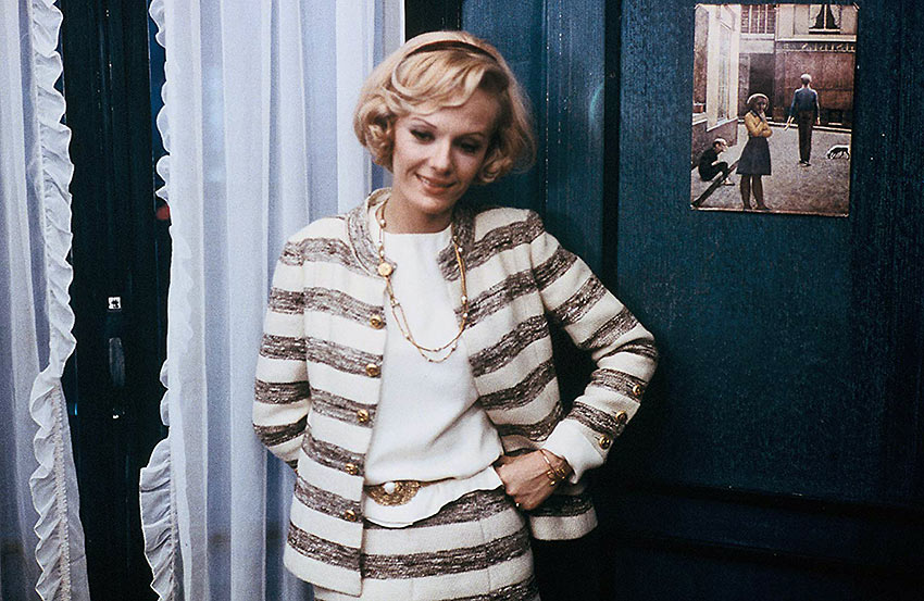 Delphine Seyrig in a scene from Stolen Kisses