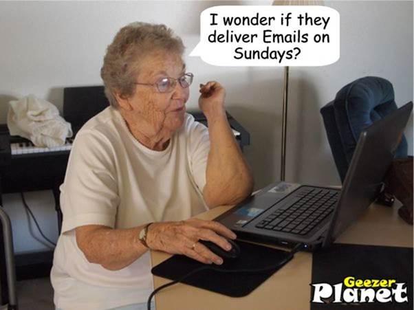Parting Shot: Email on Sundays?