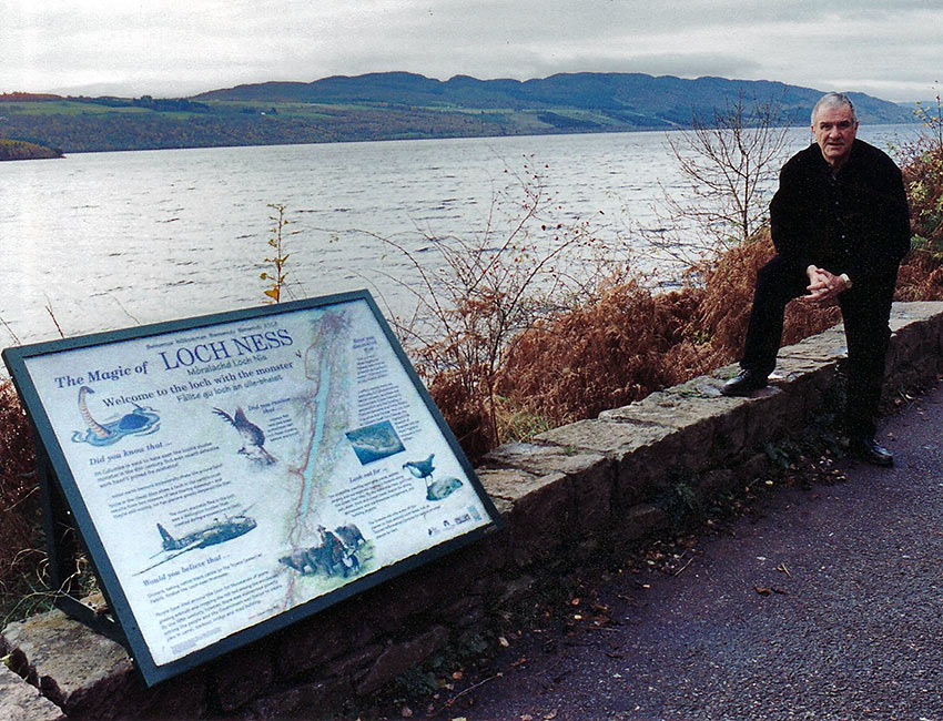 the writer at Loch Ness, Scotland