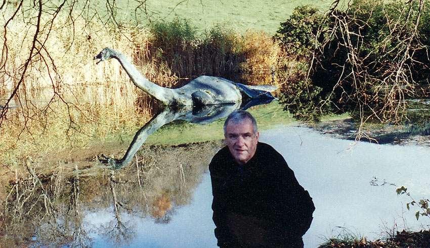 the writer at Loch Ness, Scotland