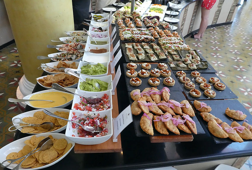 small section of the lunch buffet