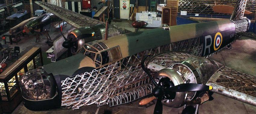 restoring the Wellington bomber of Loch Ness