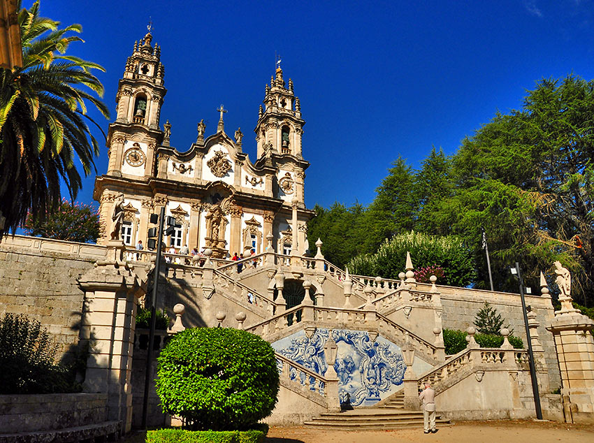 the Sanctuary of Our Lady of Remedies on a hilltop overlooking Lamego