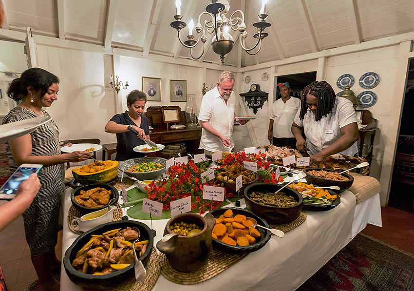 Wednesday night pig roast at the Hermitage Inn, Nevis Island